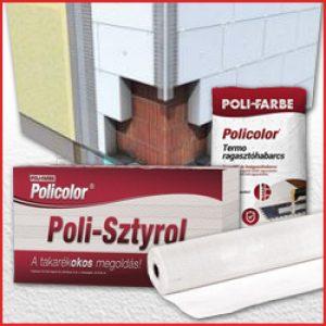 Poli-farbe homlokzati hőszigetelő rendszer